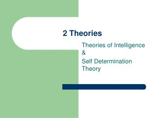 2 Theories