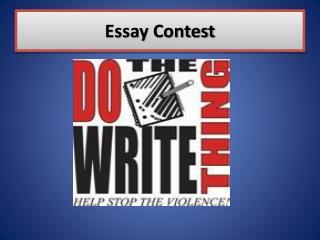 Essay Contest
