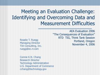 Meeting an Evaluation Challenge: Identifying and Overcoming Data and Measurement Difficulties