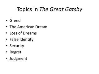 american dream topics
