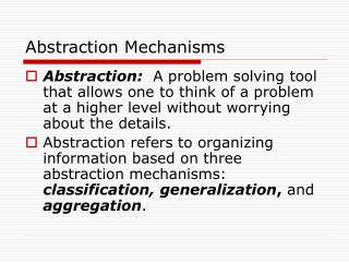 Abstraction Mechanisms