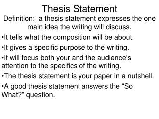 what comes after thesis statement