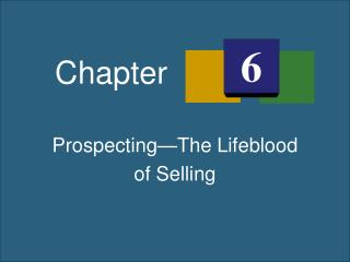 Prospecting—The Lifeblood of Selling