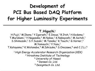 Development of PCI Bus Based DAQ Platform for Higher Luminosity Experiments