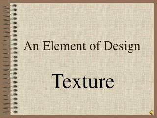 An Element of Design