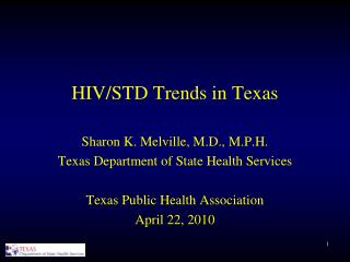 HIV/STD Trends in Texas
