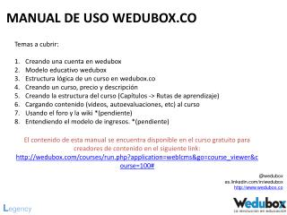 MANUAL DE USO WEDUBOX.CO
