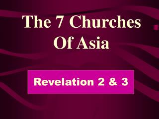 The 7 Churches Of Asia