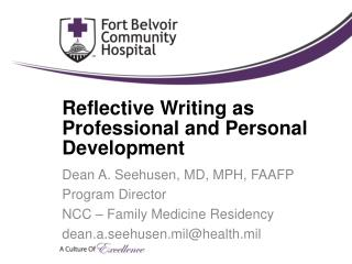 Reflective Writing as Professional and Personal Development