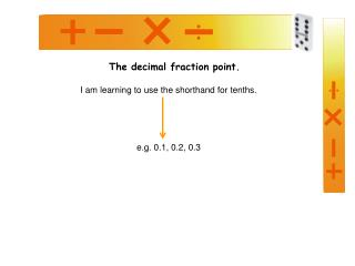 The decimal fraction point.