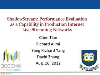 Chen  Tian Richard  Alimi Yang  Richard  Yang David  Zhang Aug. 16, 2012