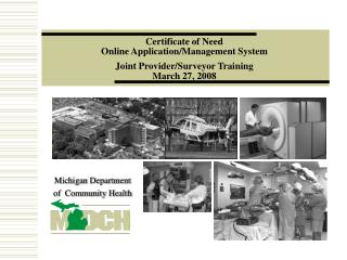 Michigan Department of  Community Health