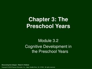 Chapter 3: The Preschool Years