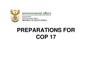 PREPARATIONS FOR  COP 17