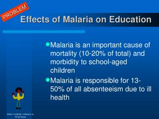 Effects of Malaria on Education
