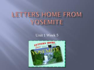 Letters Home from Yosemite