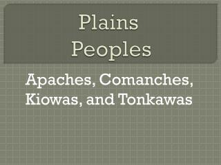 Plains Peoples