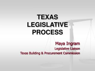 TEXAS LEGISLATIVE PROCESS