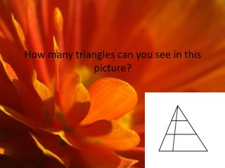 How many triangles can you see in this picture?
