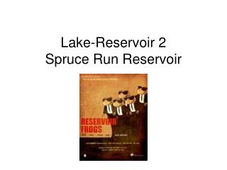 Lake-Reservoir 2 Spruce Run Reservoir
