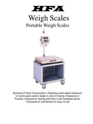 HFA Weigh Scales Portable Weigh Scales