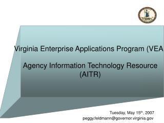 Virginia Enterprise Applications Program (VEAP)