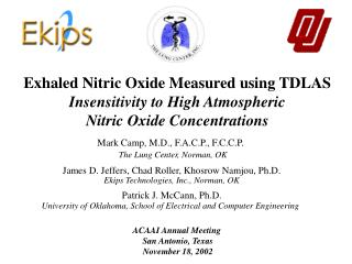 Exhaled Nitric Oxide Measured using TDLAS Insensitivity to High Atmospheric  Nitric Oxide Concentrations
