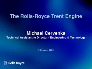 The Rolls-Royce Trent Engine