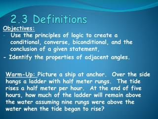 2.3 Definitions