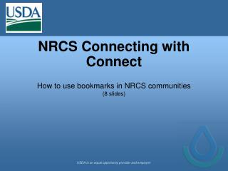 NRCS Connecting with Connect