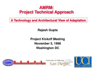 AMRM: Project Technical Approach
