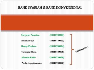 BANK SYARIAH & BANK KONVENSIONAL