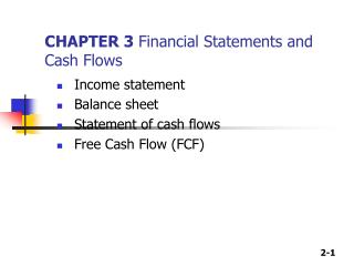 CHAPTER 3  Financial Statements and Cash Flows