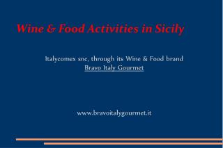 Wine & Food Activities in Sicily