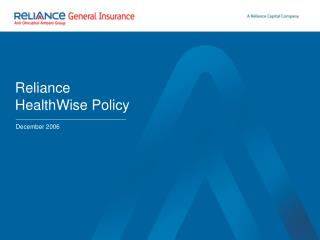Reliance HealthWise Policy