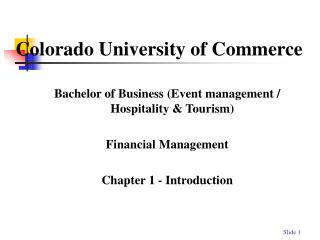 Colorado University of Commerce