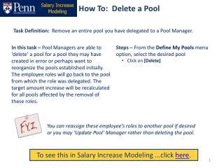 How To:  Delete a Pool