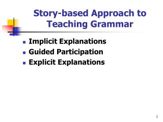 Story-based Approach to Teaching Grammar