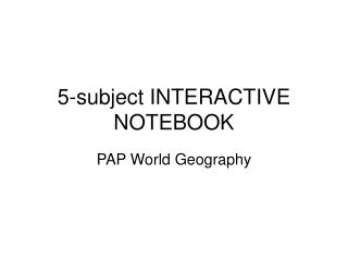5-subject INTERACTIVE  NOTEBOOK