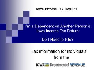 Iowa Income Tax Returns