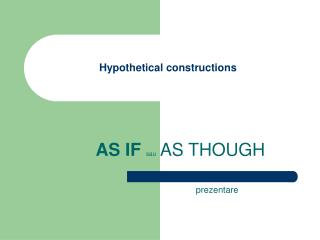 Hypothetical constructions