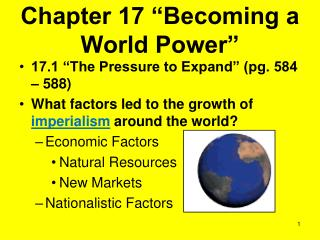 "Chapter 17 ""Becoming a World Power"""