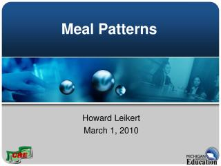 Meal Patterns