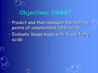 Objectives: SWBAT