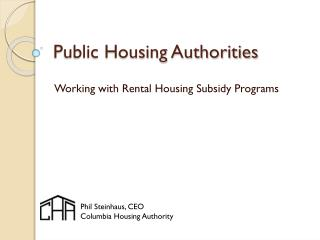 Public Housing Authorities