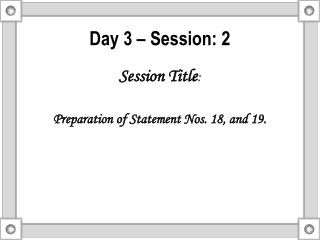 Day 3 – Session: 2