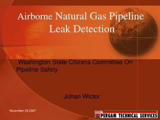 Airborne  Natural Gas Pipeline  Leak Detection