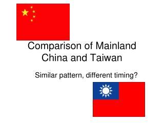 Comparison of Mainland China and Taiwan