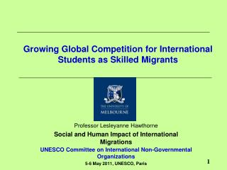 Growing Global Competition for International Students as Skilled Migrants