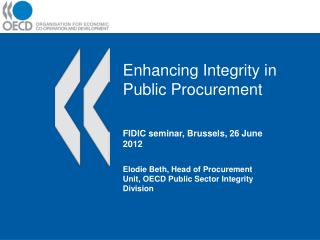 Enhancing Integrity in Public Procurement